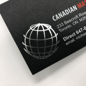 Business Cards Foil Metallic printing in mississauga