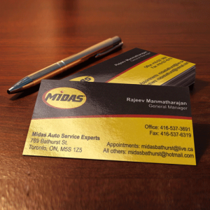 Business Cards Premium Glossy or Matte printing in mississauga